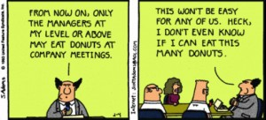 "Scott Adams, ""Dilbert,"" copyright 1993."
