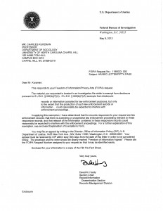 Kurzman_FBI_FOIA_2012_rejection